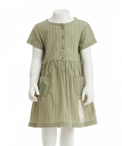 Gingersnaps Patch Pocket Short Sleeves Dress