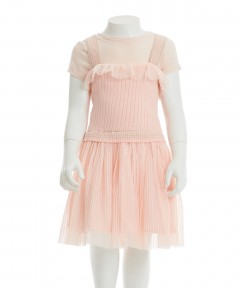 Gingersnaps Pleated Tulle Strappy Dress