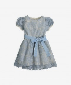 Gingersnaps Embroidered Rose Combed Dress