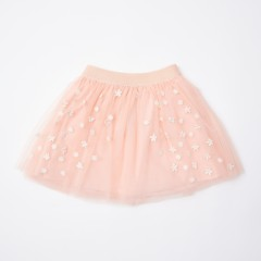 Gingersnaps Lace Floral Appliques Tulle Skirt