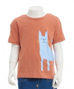 Gingersnaps Kitty Graphic Print T-Shirt