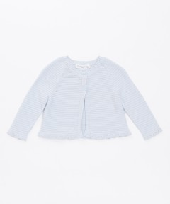 Gingersnaps Scallop Edge Cropped Knitted Cardigan