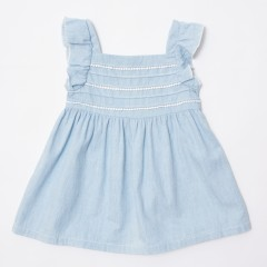Gingersnaps Lace Trim Denim Dress