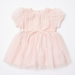 Gingersnaps Lace & Glittered Tulle Combi Dress
