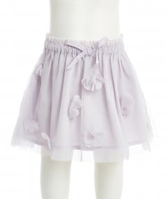 Gingersnaps Flower Applique Tulle Skirt