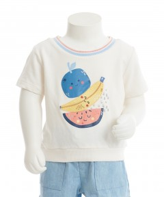 Gingersnaps Spot Print Fruits T-Shirt