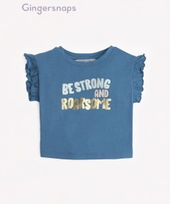 Gingersnaps Be Strong And Roarsome Graphic T-Shirt