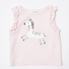Gingersnaps Zebra Ruffles Sleeves T-Shirt