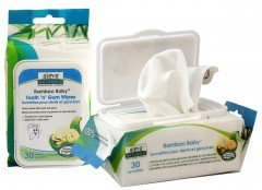 Aleva Naturals, Bamboo Baby, Tooth 'n' Gum Wipes, 30 Wipes