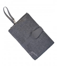 JJ Cole Changing Clutch - Gray Heather