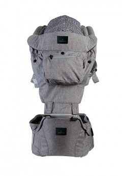 Mimosa Airplush 6-Way Hipseat Carrier - Wintry Grey