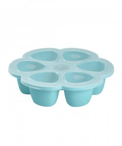 Beaba Multiportions 90ml Silicone Tray - Blue