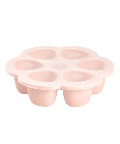 Beaba Multiportions 90ml Silicone Tray - Pink