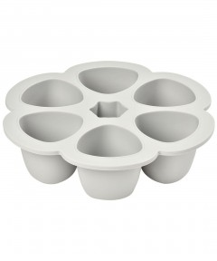 Beaba Multiportions 90ml Silicone Tray - Grey