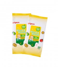 Pigeon Hand & Mouth Wipes 20s - 2 Pack