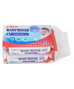 Pigeon Pure Water Wipes 30s - 2 Pack
