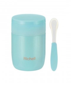 Richell Stainless Steel Food Flask 350ml - Green