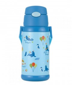 Richell 2-Way Stainless Water Bottle - Blue