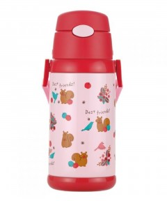 Richell 2-Way Stainless Water Bottle - Red