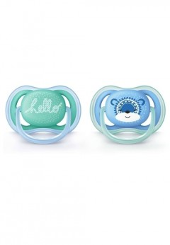 Philips Avent 2 Pack Ultra Air Soother 6-18m - Boy