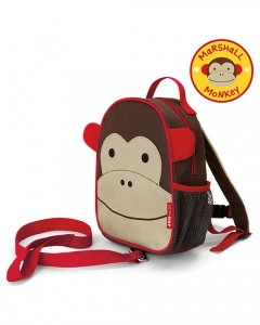 Skip Hop Zoo-Let Mini Backpack with Rein - Monkey