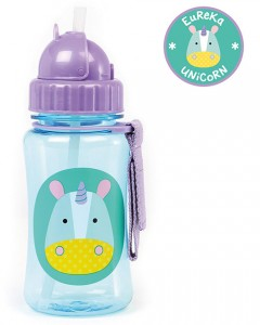 Skip Hop Zoo Straw Bottle 350ml - Unicorn