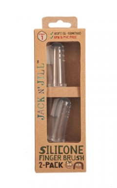 Jack N' Jill Silicone Finger Brush Stage 1, 6-18m - 2 Pack