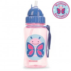 Skip Hop Zoo Straw Bottle 350ml - Butterfly