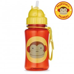 Skip Hop Zoo Straw Bottle 350ml - Monkey