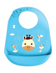 Snapkis Oh-So-Soft Silicone Bib - Bino The Giraffe
