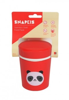 Snapkis Food Flask Stainless Steel 280ml - Panda