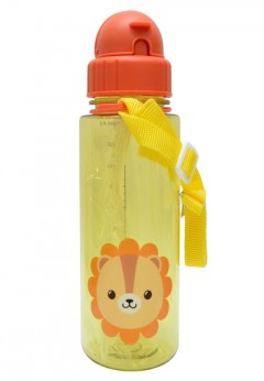 Snapkis Straw Bottle 500ml - Lion