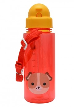 Snapkis Straw Bottle 500ml - Dog
