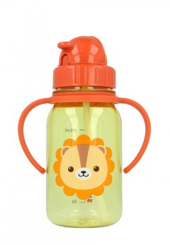Snapkis My First Straw Bottle 350ml - Lion