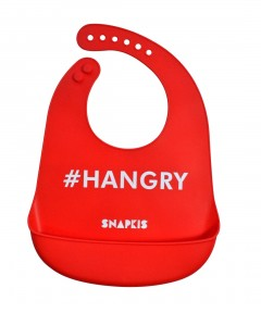 Snapkis Oh-So-Soft Silicone Bib - Hangry