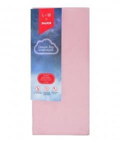 Snapkis Bambu Collezione Cotbed Fitted Sheet - Pink