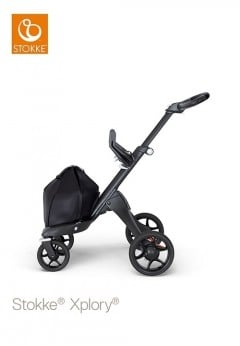 Stokke Xplory V6 Stroller Chassis - Black Chassis with Black Handle