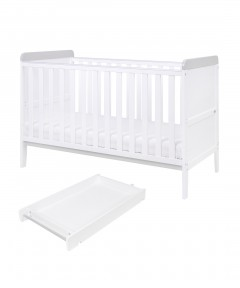Tutti Bambini Rio Cot Bed with Top Changer - Dove Grey