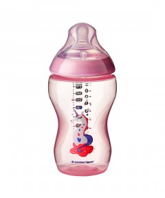Tommee Tippee Closer to Nature Decorated 340ml Bottle - Pink
