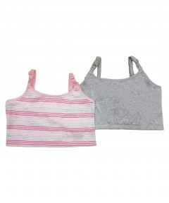 Mothercare Grey Nursing Bras - 2 Pack