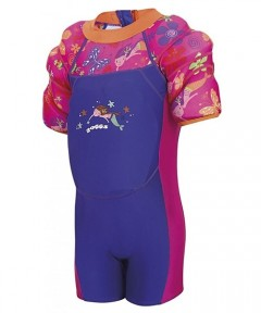 Zoggs Water Wing Floatsuit Deepsea 1-2years - Pink